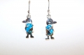 Silver earrings blue